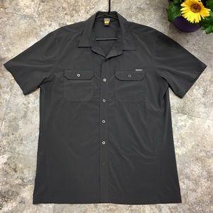 💙 Eddie Bauer gray stretch shirt like never worn